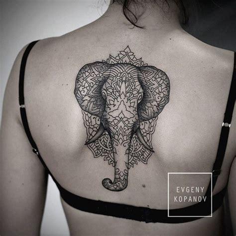 elephant tattoo back mandala ifltattoos