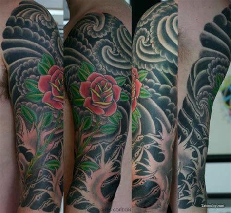 and japanese tattoos on sleeve
