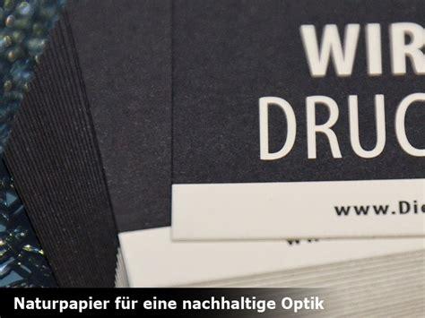 Visitenkarten Nachhaltig Drucken by Visitenkarten Mit Umwelt Naturpapier Drucken Schnell