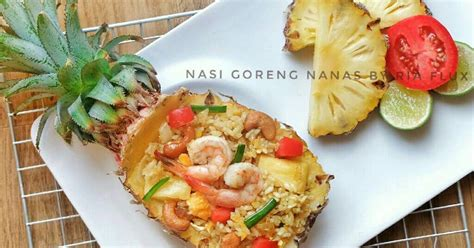 resep nasi goreng nanas enak  sederhana cookpad