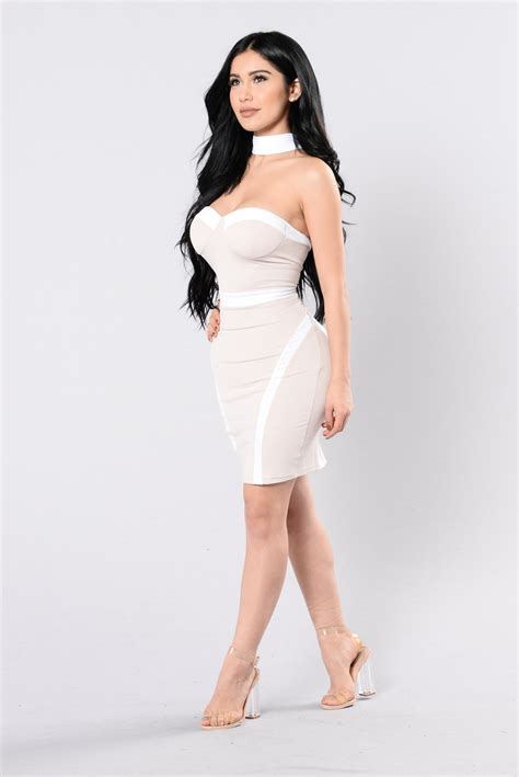Dress Model Style Black White Fashion Impor 1 one for the money dress white