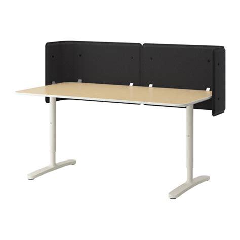 Small Reception Desk Ikea Bekant Reception Desk Birch Veneer White 160x80 55 Cm Ikea
