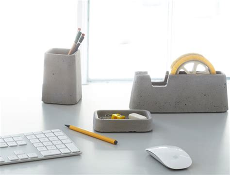 design desk accessories architects concrete obsession transposed in solid desk