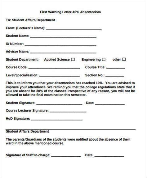warning letter templates samples