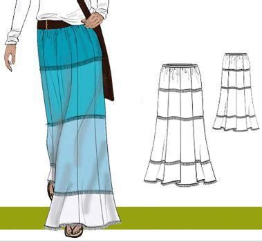 easy wrap skirt pattern free patterns