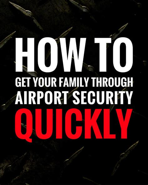 how to get through airport security fast travel travel how to get through airport security quickly bacon is magic