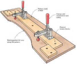 router jig templates pattern routing jig finewoodworking