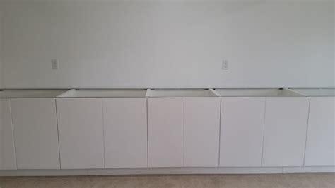 kitchen cabinet end caps basement cabinet toe kick fix ikea hack loving here