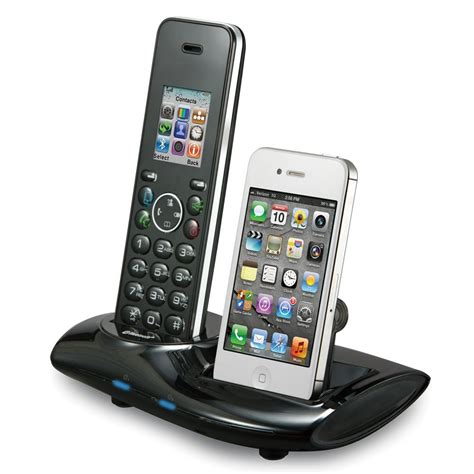 the home phone and iphone unifier hammacher schlemmer