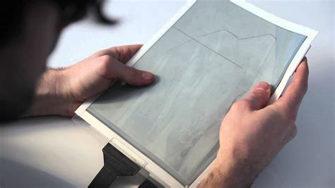 How To Make Thin Paper - papertab revolutionary paper tablet reveals future