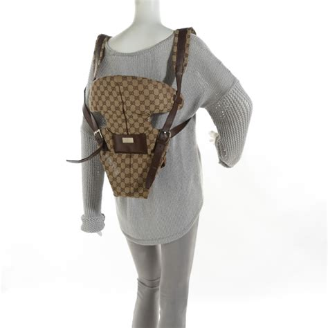 Gucci Baby Carrier Favorite by Gucci Monogram Baby Carrier Brown 115804