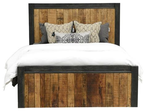 wood panel bed reclaimed wood panel bed california king rustic panel