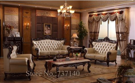 Wood Living Room Set by Sofa Set Living Room Furniture Wood And Genuine Leather