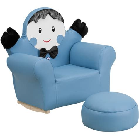 little kids couch kids little boy rocker chair and footrest wayfair