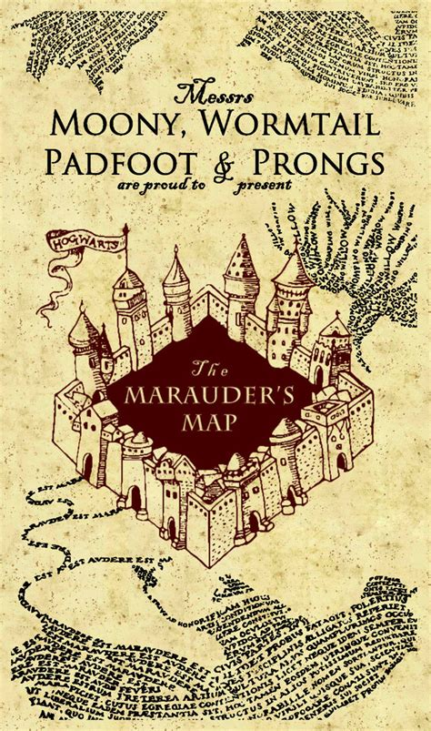Marauders Map harry potter marauders map printout www imgkid the