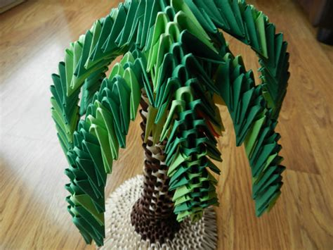 3d Origami Tree - items similar to 3d origami palm tree model on etsy