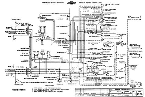 1955 Classic Chevrolet Large Wiring Diagram
