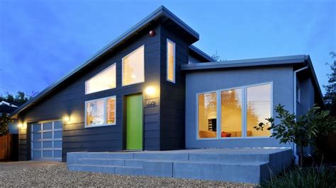 home design for small homes awesome modern house with slanted roof and green door come