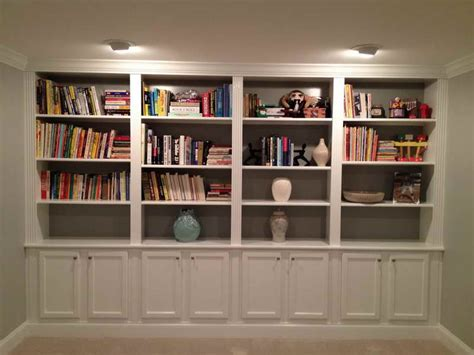 home design pictures of built in bookcases lighting