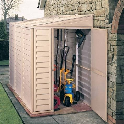 Plastic Pent Shed by Duramax Sidemate Plastic Lean To Pent Shed 4x8 Garden