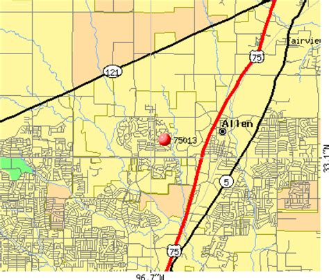 map of allen where is allen map