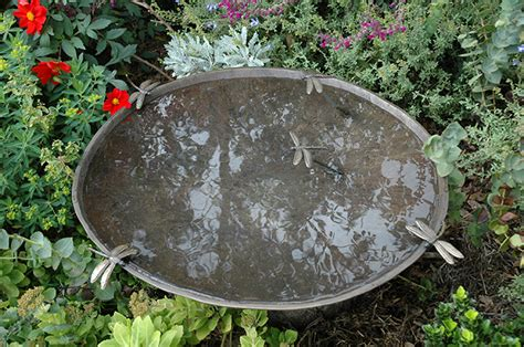 dragonfly birdbath bowl willie wildlife sculptures