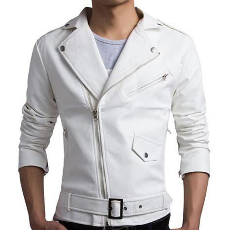 design biker jacket new white pu leather jacket men 2016 design motorcycle