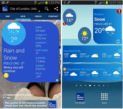 the weather channel app for android tablet the weather channel for android gets redesign and tablet optimization in new version