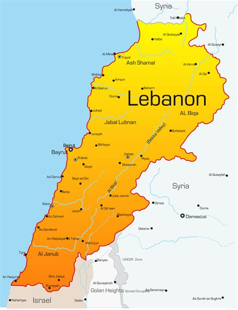 map of lebanon lebanon map with cities blank outline map of lebanon