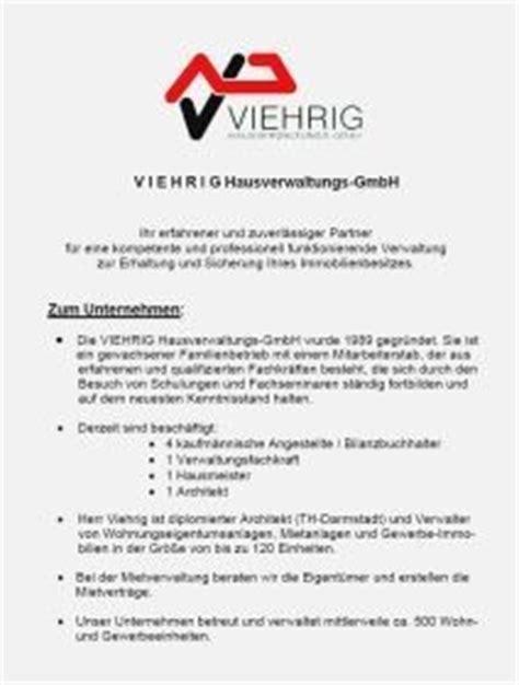 Angebot Hausverwaltung Muster Viehrig Hausverwaltungs Gmbh Info