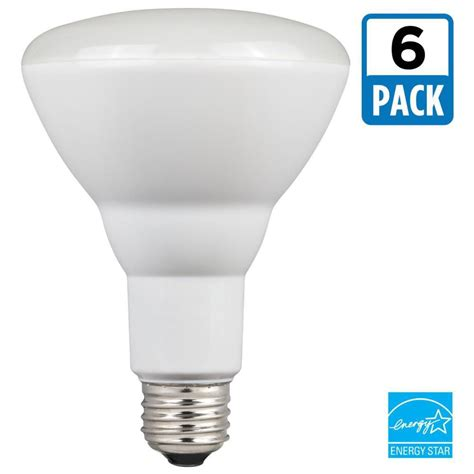 led light bulb pack westinghouse 65w equivalent cool white br30 dimmable led light bulb 6 pack 5008020 the home
