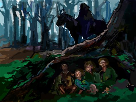 nazgul the hobbit hobbits hiding from nazgul by yvainecullen on deviantart