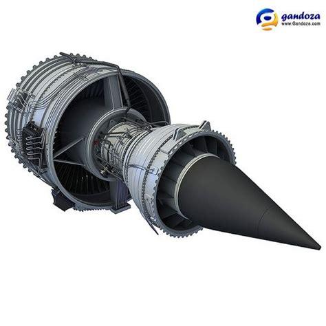 rolls royce trent 1000 turbofan aircraft engine 3d rolls