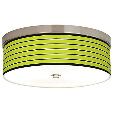 bold lime green stripe giclee energy efficient ceiling