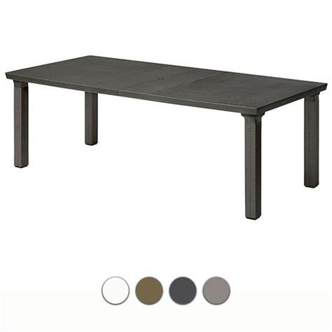 tavoli in resina da giardino tavolo da giardino triplo allungabile in resina by scab