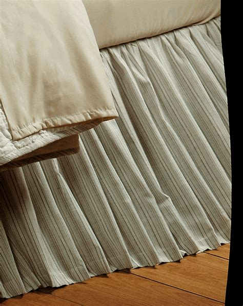 tan bed skirt hudson blue tan pinstripe bedskirt