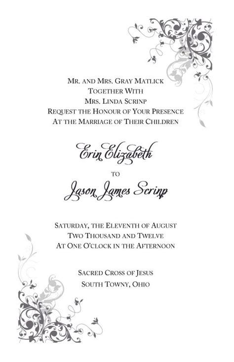 wording for catholic wedding invitations catholic wedding invitation wording theruntime