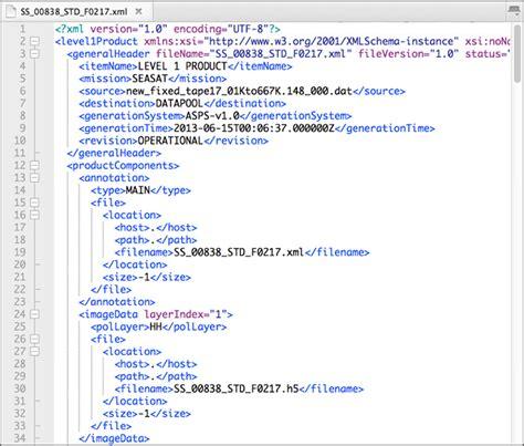 blogger xml format 11 data product formats alaska satellite facility
