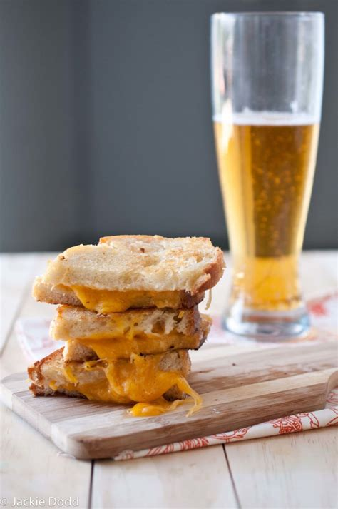 brown butter grilled beer cheese sandwich