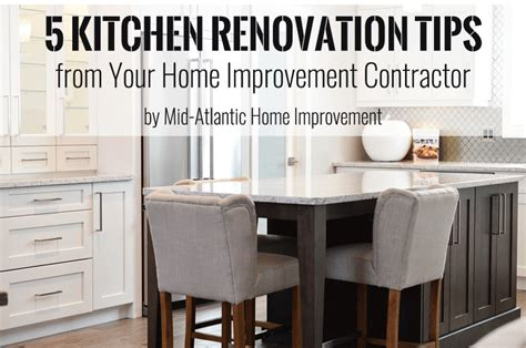 5 kitchen renovation tips from home improvement contractor