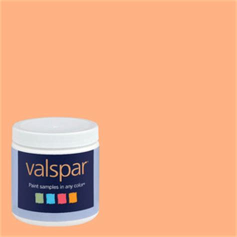 shop creative ideas for color by valspar 8 oz paint sle creamsicle at lowes