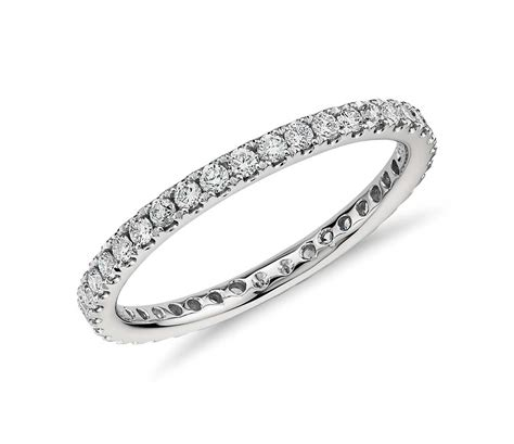 riviera pav 233 eternity ring in platinum blue nile
