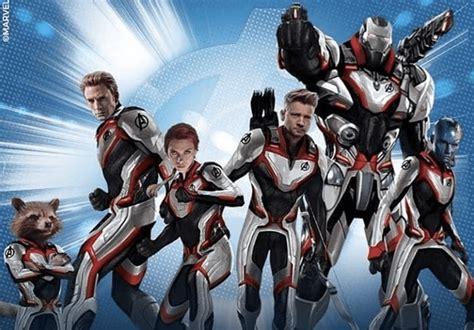 avengers endgame promo art showcases  teams  suits