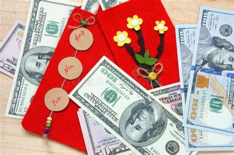 new year money gift tradition tet envelope lucky money stock photo image