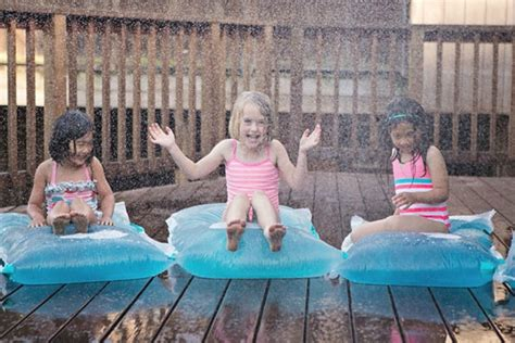 backyard water birthday party backyard party ideas water blobs by hello wonderful cool