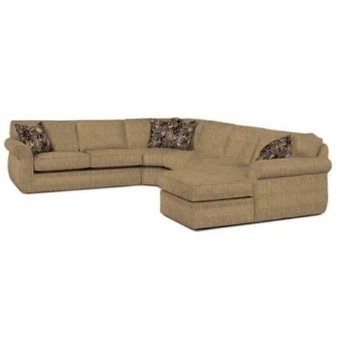 Broyhill Sectional Sofa Broyhill Upholstered Raf Chaise Sofa Beige Sectional Ebay