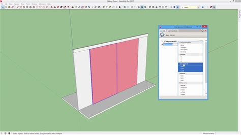 animation tutorial for sketchup how to make a sliding door animation in sketchup youtube