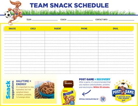 Snack Schedule Templates Download Free Premium Templates Forms Sles For Jpeg Png Pdf Snack Schedule Template