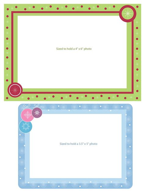 Photo Frame Card Template by Free Templates Printable Gift Tags Cards