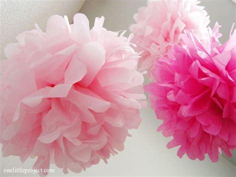 Paper Pom Poms - tissue paper pom poms for a nursery